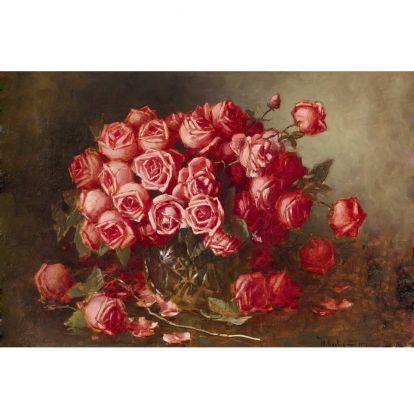 Клевер, Юлий (младший) - Натюрморт с розами