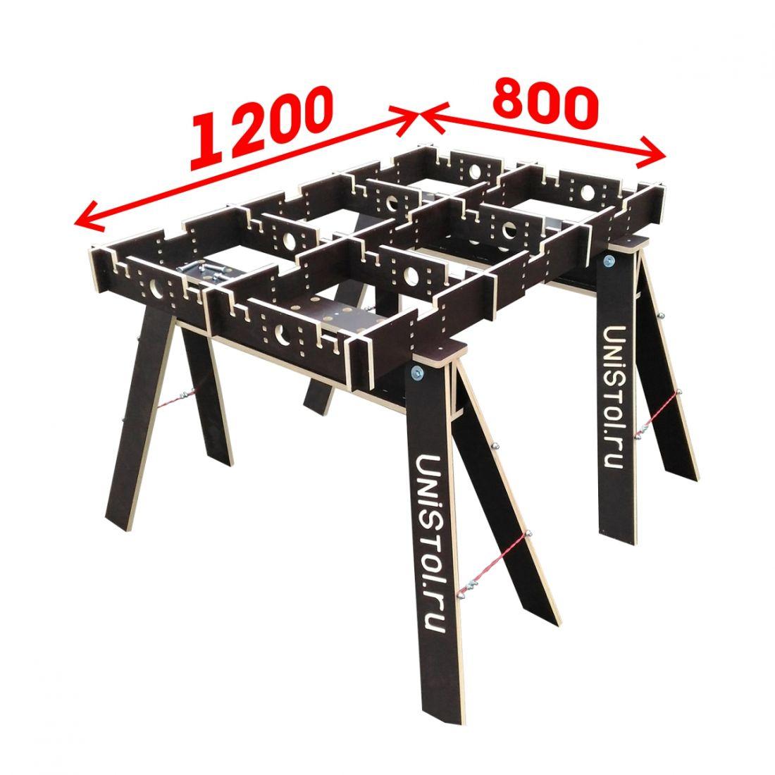 Ячеистый стол для раскроя листовых материалов 1200x800 мм без столешницы