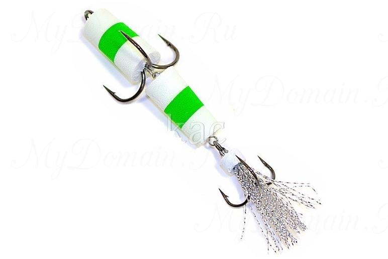 Пенополиуретановая Приманка XXL FISH «ФЛАЖОК» 9см, цвет БЗБ (в блистере)