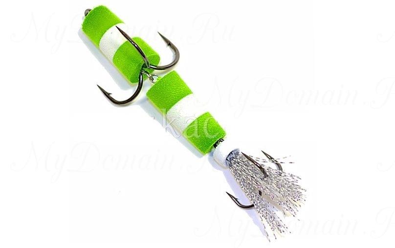 Пенополиуретановая Приманка XXL FISH «ФЛАЖОК» 9см, цвет ЗБЗ (в блистере)