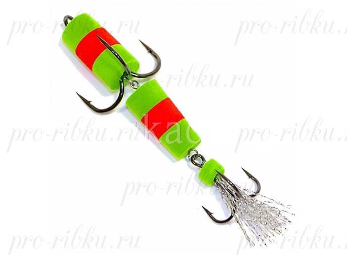 Пенополиуретановая Приманка XXL FISH «ФЛАЖОК» 9см, цвет ЗКЗ (в блистере)