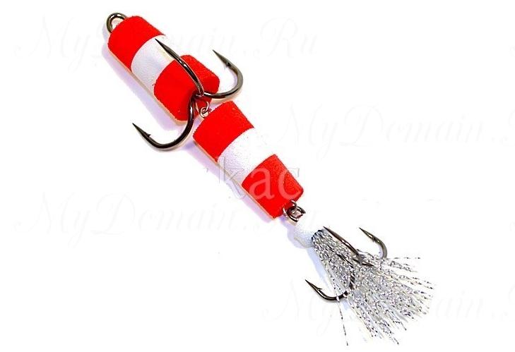 Пенополиуретановая Приманка XXL FISH «ФЛАЖОК» 9см, цвет КБК (в блистере)