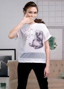 футболка с надписью и рисунком хомяк