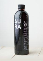 Вода чёрная «AURA BLACK» 0,5 л.