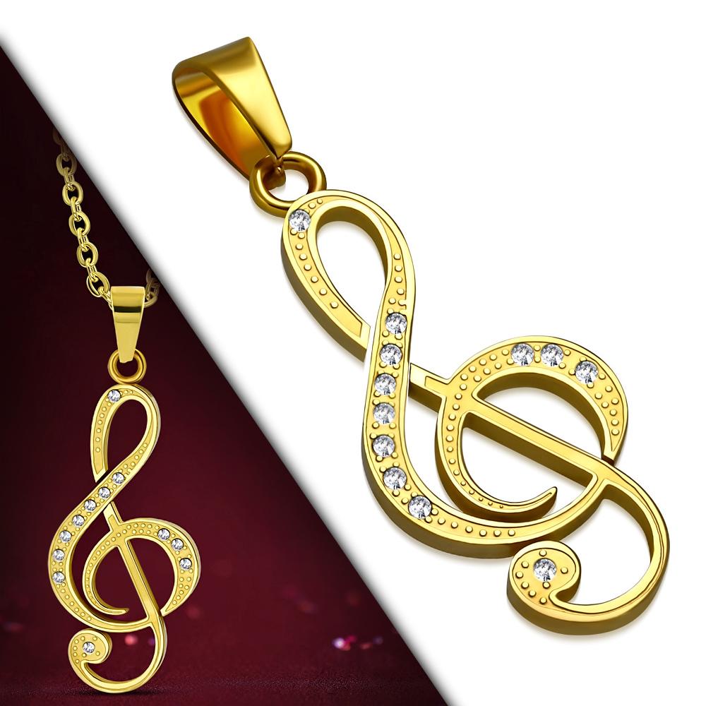 Кулон Скрипичный Ключ