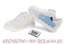 Светящиеся кроссовки UFO White-Bricks U014-WB