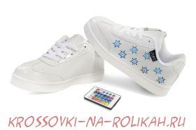 Светящиеся кроссовки UFO White-Flowers U014-W