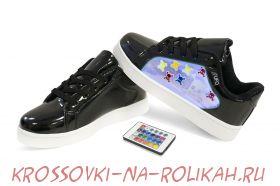 Светящиеся кроссовки UFO Black-Skull U012-BKS