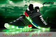 Светящиеся кроссовки UFO black D070-BK