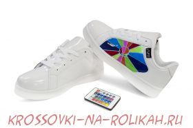 Светящиеся кроссовки UFO White-Rainbow U012-W