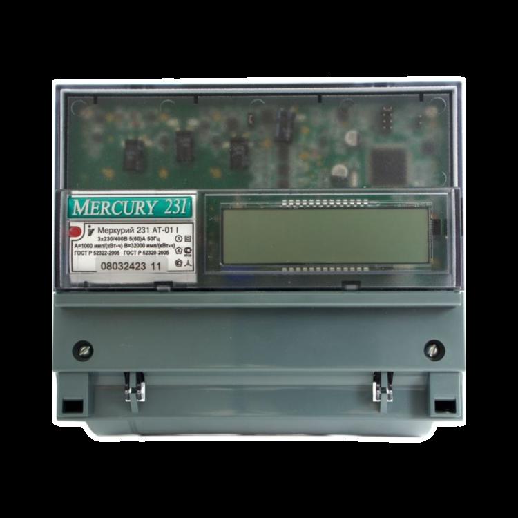 Счётчик Меркурий 231 АТ-01I трёхфазный