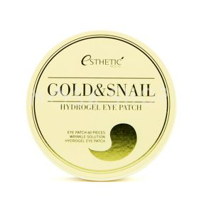 Esthetic House Gold Snail Hydrogel Eye Patch 60шт - гидрогелевые патчи с золотом и муцином улиток