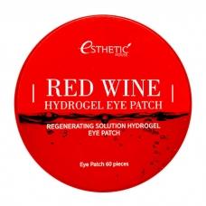 Esthetic House Red Wine Hydrogel Eye Patch 60шт - гидрогелевые патчи с экстрактом красного вина