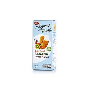 Ломтики вяленого банана в йогуртовой глазури