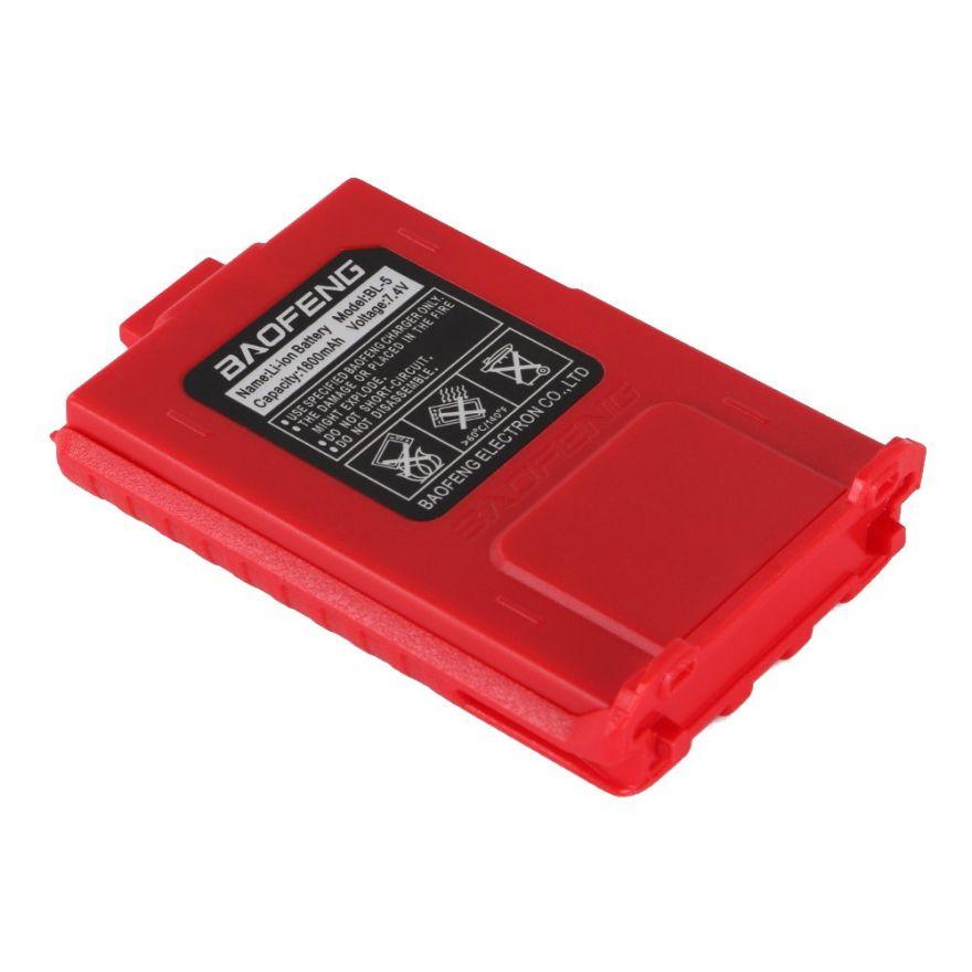 Аккумулятор BL-5 для рации Baofeng UV-5R (1800 мАч) красный