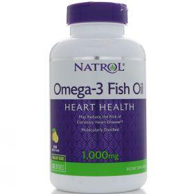 Natrol Omega 3 Fish Oil 1000 мг 150мягких таблеток вкусом лимона