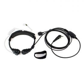 Гарнитура - ларингофон регулируемая для рации Baofeng, Kenwood 2-Pin