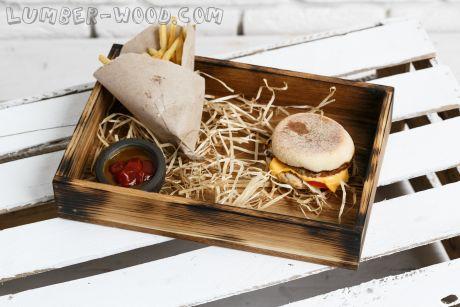 Поднос для гамбургеров и хлеба. Обожженный. арт. 1532
