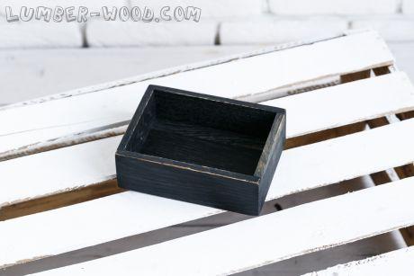 Дубовые коробочки для подачи. Черные. Арт. 1574