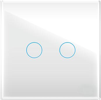 """Двухлинейная панель стеклянная белая в рамку """"Практика"""" CGSS PL-PN02WCG"""