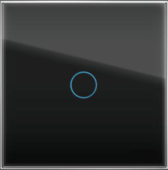 """Однолинейная панель стеклянная черная в рамку """"Практика"""" CGSS PL-PN01BCM"""