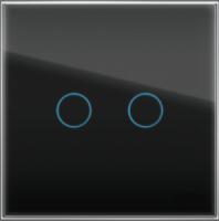 """Двухлинейная панель стеклянная черная в рамку """"Практика"""" CGSS PL-PN02BCM"""