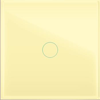 """Однолинейная панель стеклянная бежевая в рамку """"Практика""""  CGSS PL-PN01BGG"""