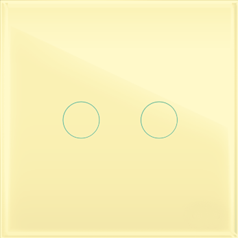 """Двухлинейная панель стеклянная бежевая в рамку """"Практика"""" CGSS PL-PN02BGG"""