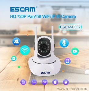 Беспроводная IP WiFi камера с микрофоном видео няня 720P Escam G02
