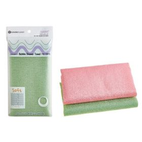 Sung Bo Cleamy Clean And Beauty Bubble Shower Towel - средне-жесткая мочалка для тела 28х100см