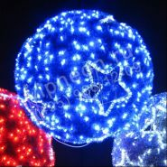 мотив светодиодный 3D-шар с узорами диаметр 40см