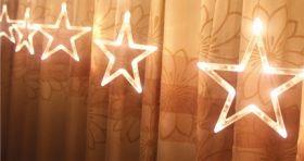 мотив светодиодный свисающие звезды 5шт