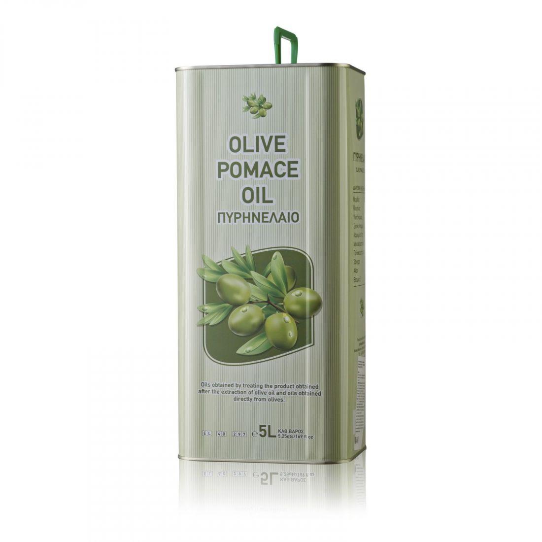 Оливковое масло CRETAN MILL - 5 л помас, для жарки, жестяная банка