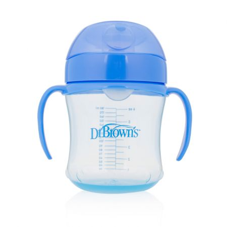 Dr.Brown's Чашка-поильник 180 мл с мягким носиком, синяя (Арт. ТС61004)