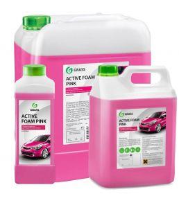 Активная пена «Active Foam Pink» цветная пена GRASS