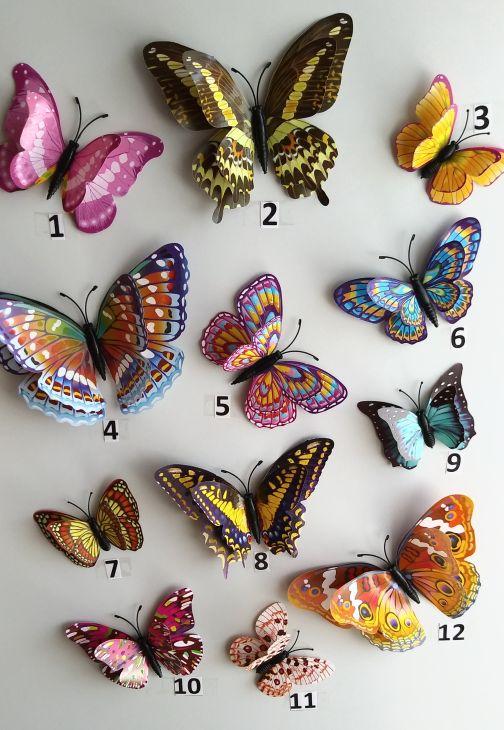 3D бабочка на магните - 1
