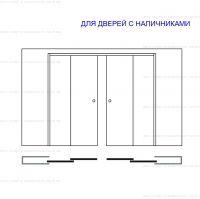 Пенал Eclisse DoubleTelescopic  для полотен высотой 2000 и 2100 мм