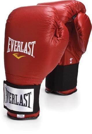 Перчатки тренировочные на липучке Everlast красные