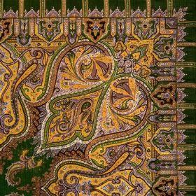 Платок павловопосадский 89*89 см Шафран [10]