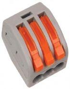 Клеммная колодка с рычагом 3х(0,08-2,5мм2) тип WAGO