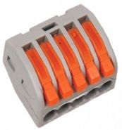 Клеммная колодка с рычагом 5х(0,08-2,5мм2) тип WAGO