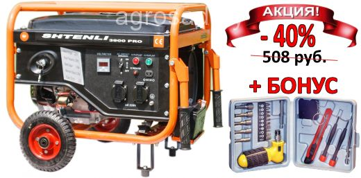 Бензогенератор SHTENLI PRO 3900. 3,3 кВт