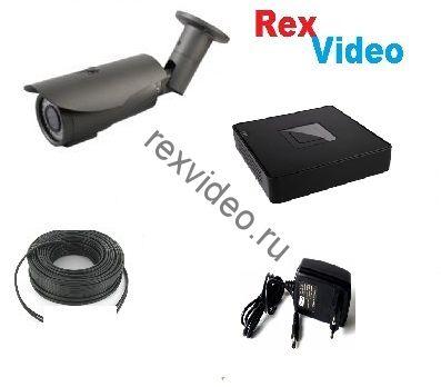 Комплект на 1 камеру IP Full HD-1080p видеонаблюдения