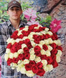 101 роза 60 см