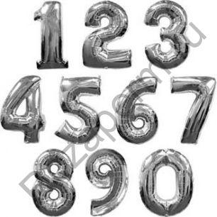 Цифры фольгированные с гелием