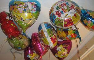 Различные фольгированные шары с гелием