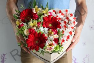 Коробка сердце с раффаэло