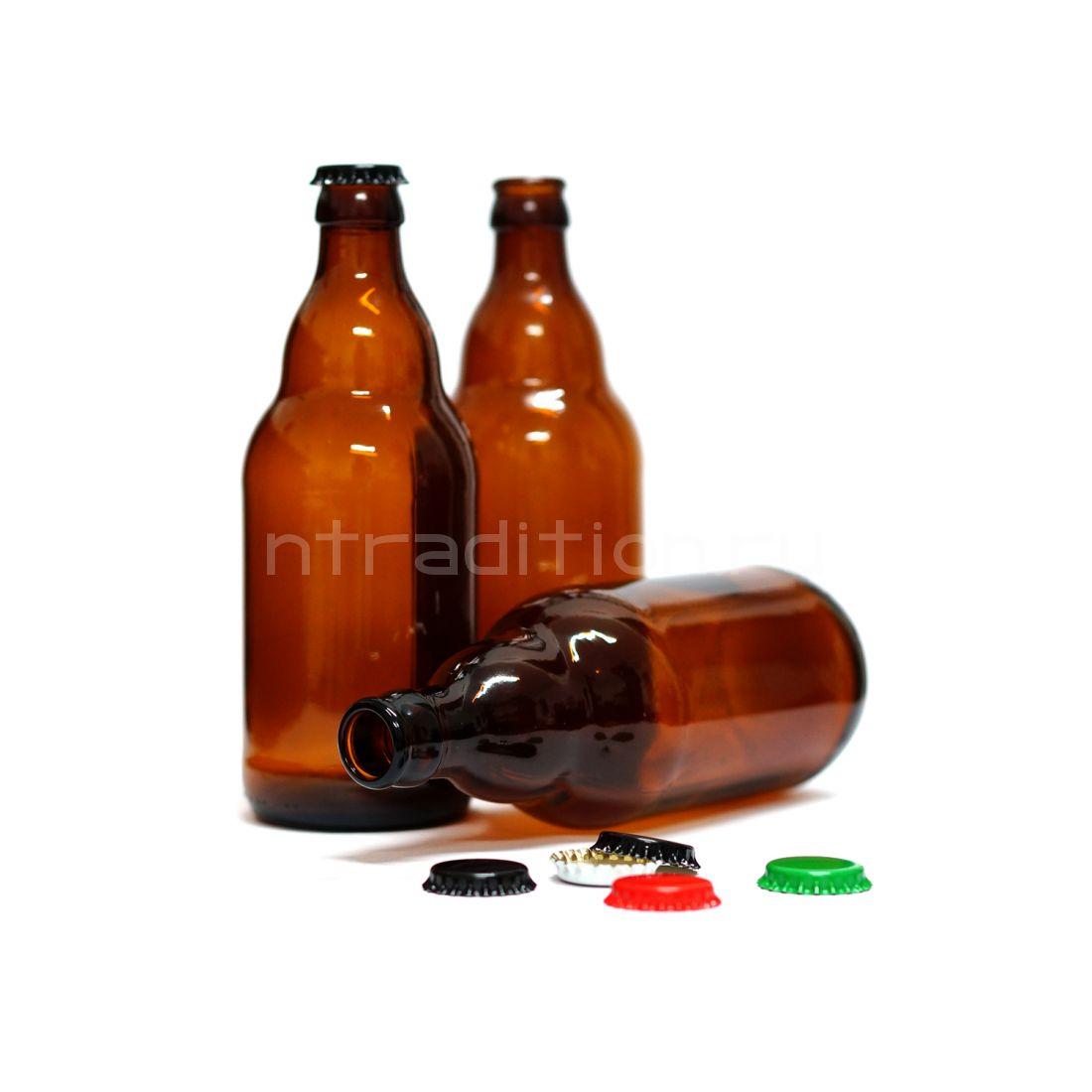 Бутылка под кронен пробку Стейни (Steinie) 0,5 л / 12 шт.