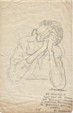 Шарж на Д. Б. Кабалевского. Автор Н. Соколов