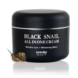 Eyenlip Black Snail All In One Cream 100ml - многофункциональный крем с муцином черной улитки